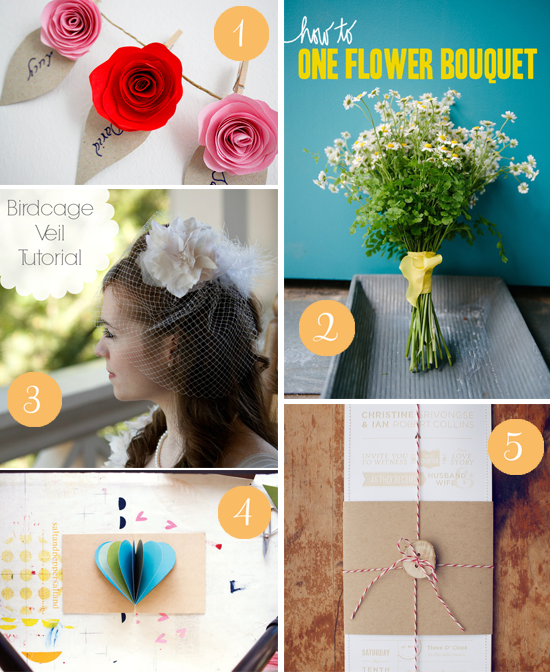 diy roundup Top 5 DIY Wedding Projects From Around The Web