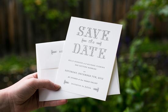 letterpress save the dates004 Saint Gertrude Letterpress Express Save The Dates