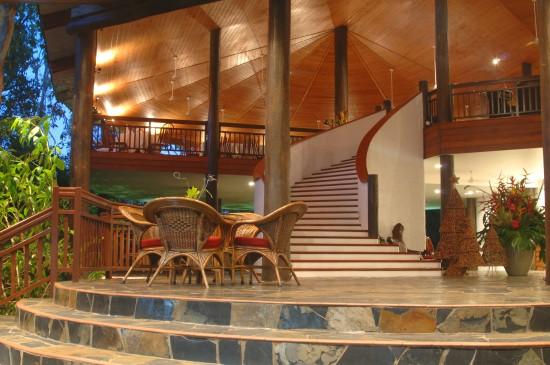 Thala Beach Lodge Lobby at sunset