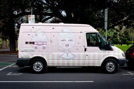 frozen yoghurt truck