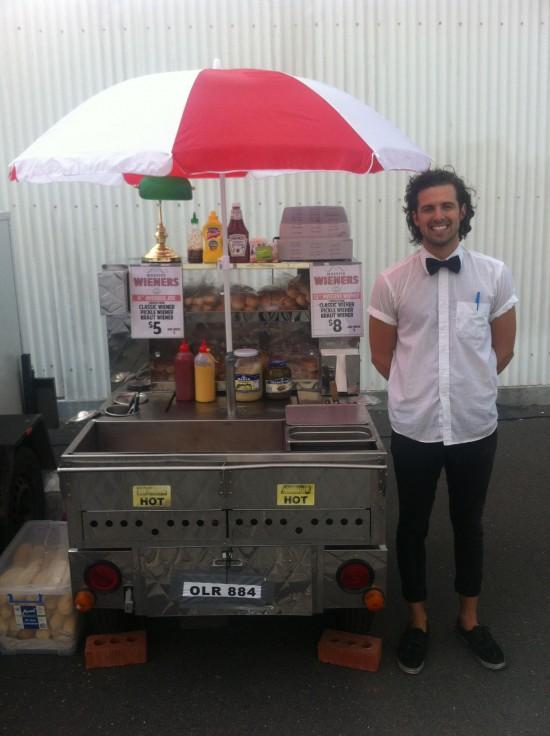 hot dog stand 550x736 Wedding Food Trucks & Carts In Victoria