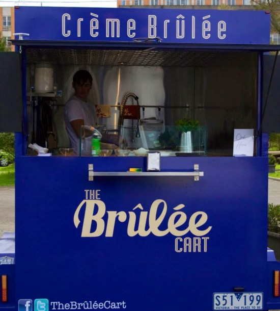 the brulee cart 550x610 Wedding Food Trucks & Carts In Victoria