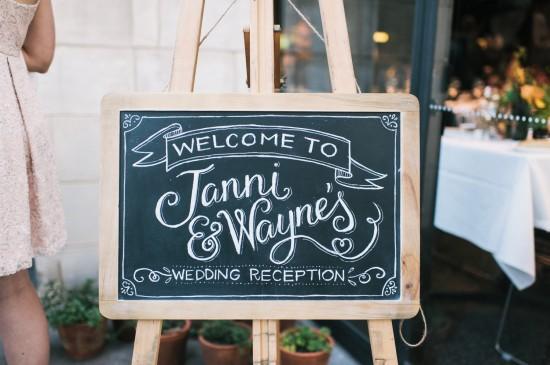 1 full Wedding Reception 550x365 DIY The Professionals! Carla Hackett from Foxglove Lettering