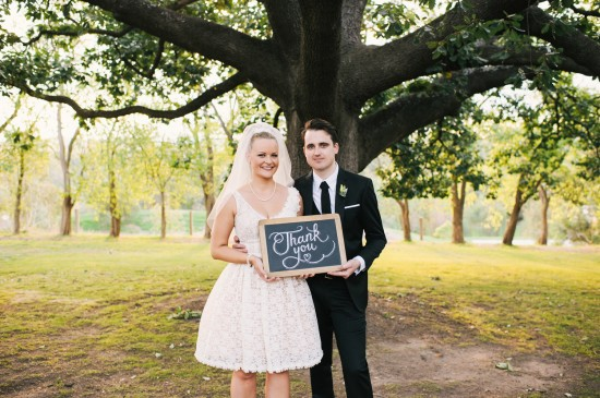 2 full Wedding Thank You 550x365 DIY The Professionals! Carla Hackett from Foxglove Lettering