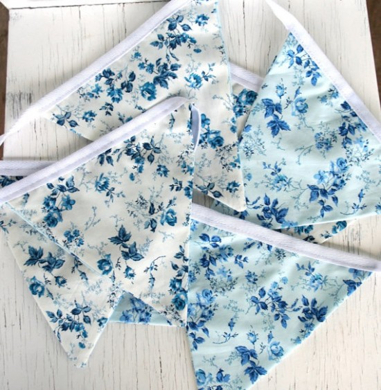 Blue White Bunting