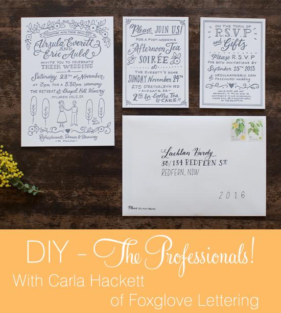 DIY headercarla DIY The Professionals! Carla Hackett from Foxglove Lettering