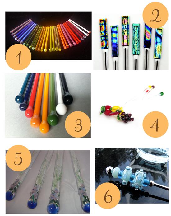 Glass Swizzle Sticks 2 Etsy Roundup Glass Swizzle Sticks