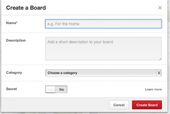 Creating a board