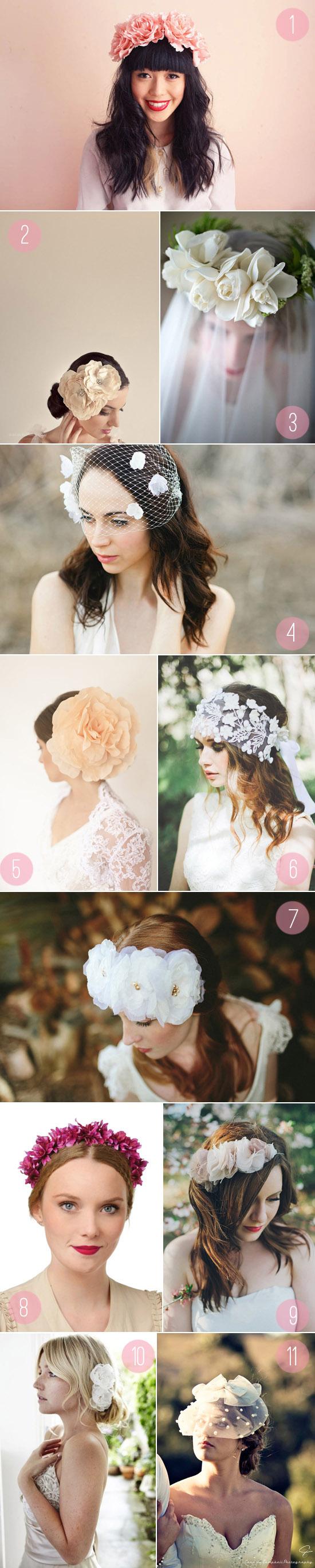 spring wedding hair pieces