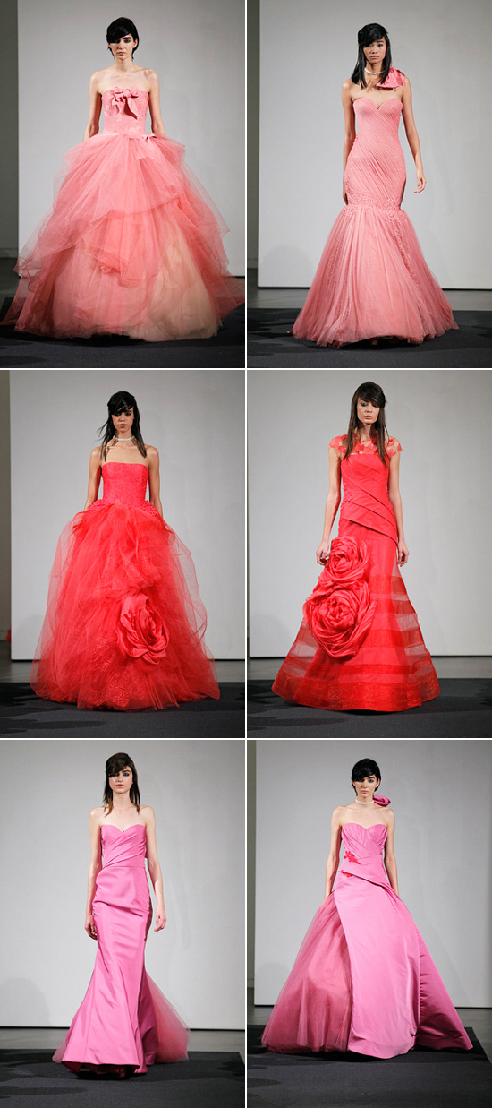 vera wang pink gowns