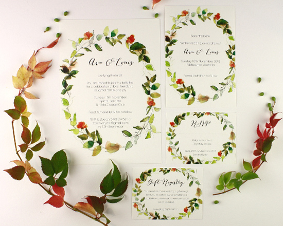 watercolour wedding invitation Corona001