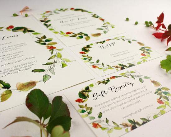 watercolour wedding invitation Corona003
