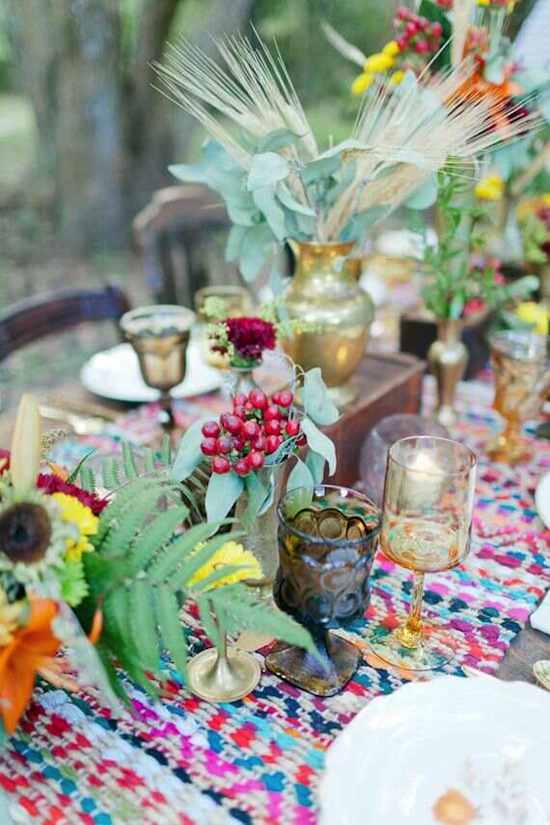 Andi Mans Photography via 100 Layer Cake Table Styling Patterned Linens