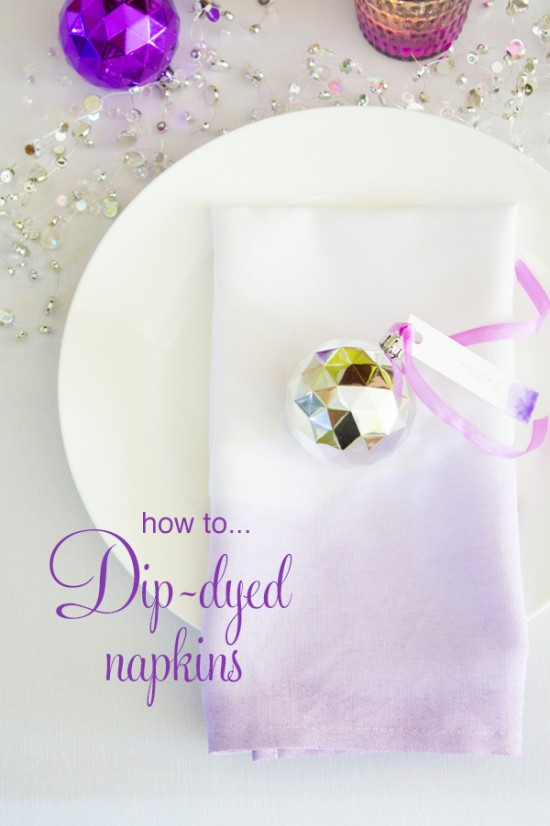 Dip dyed napkins title 550x826 Ombre Dip Dyed Napkins Dip Dyeing Tutorial