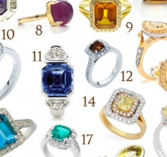 Coloured Engagement Rings | Polka Dot Bride