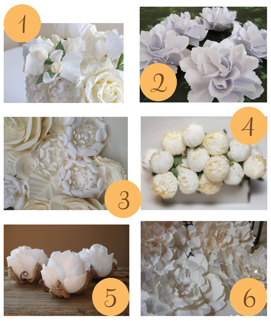 White Paper Flowers 2 Etsy Roundup White Paper Flowers