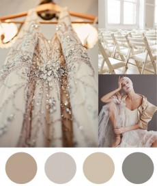color palette silver and taupe