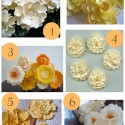 Cream and yellow paper flowers