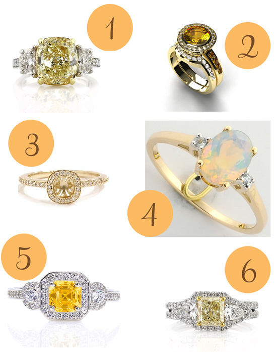 Yellow Engagement Rings