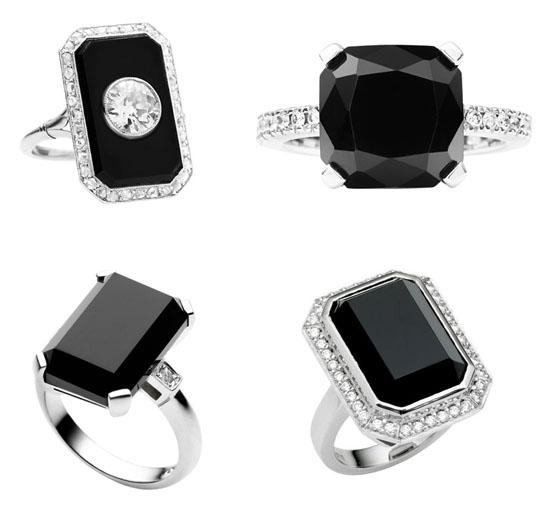 black engaement rings
