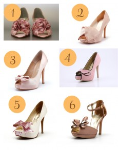 A Touch of Pink Wedding Shoes