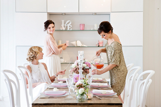 bridal shower inspiration017 White on White Bridesmaid Luncheon Inspiration