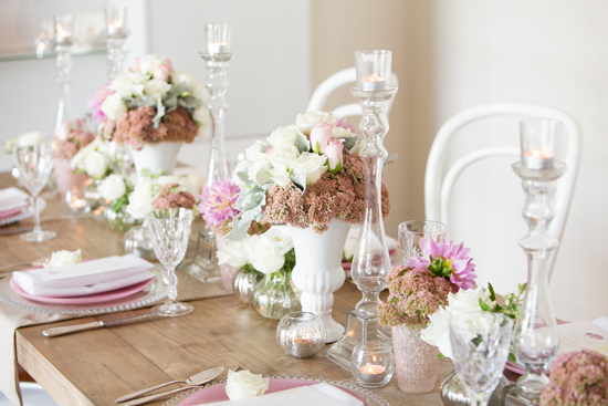 bridal shower inspiration026 White on White Bridesmaid Luncheon Inspiration