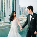 modern all white wedding030