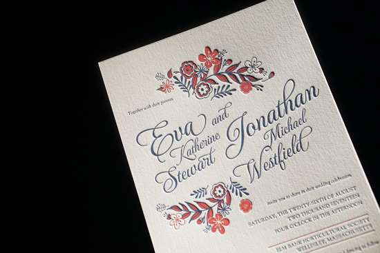 modern letterpress invitations012 Bella Figura 2014 Letterpress Invitation Collection