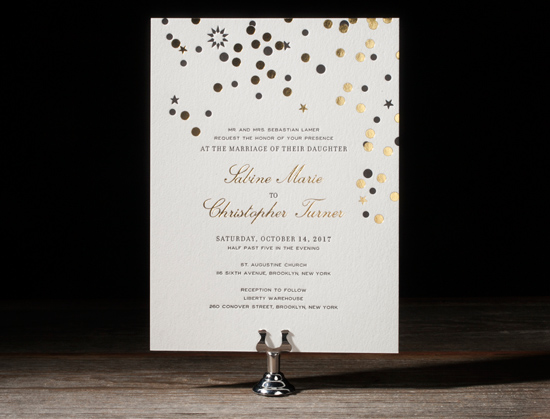 modern letterpress invitations021 Bella Figura 2014 Letterpress Invitation Collection
