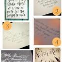 Hand drawn calligraphy