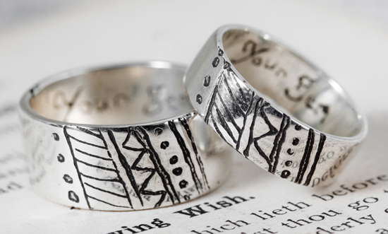 ResizedAA with love mens wedding ring in sterling silver by ginkoh jewellery smaller What Would They Know? Mark Boldiston of Lord Coconut