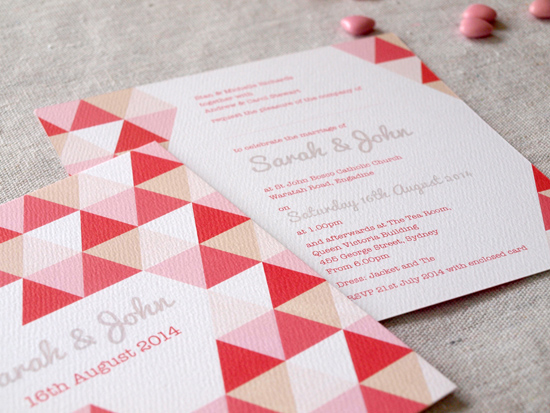 colourful wedding invitations003 Colourful Wedding Invitations From Alannah Rose Stationery