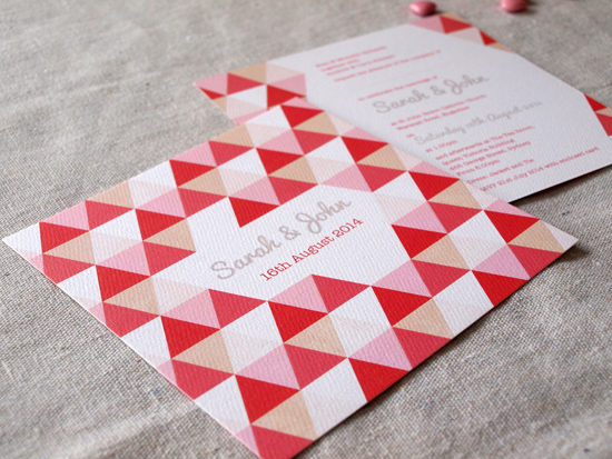 colourful wedding invitations004 Colourful Wedding Invitations From Alannah Rose Stationery