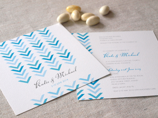 colourful wedding invitations007 Colourful Wedding Invitations From Alannah Rose Stationery