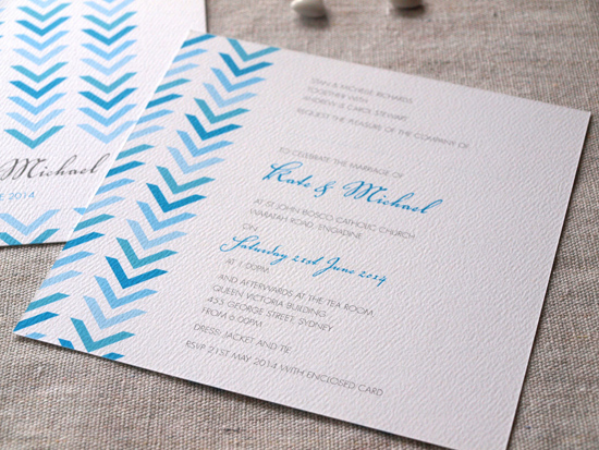 colourful wedding invitations008 Colourful Wedding Invitations From Alannah Rose Stationery