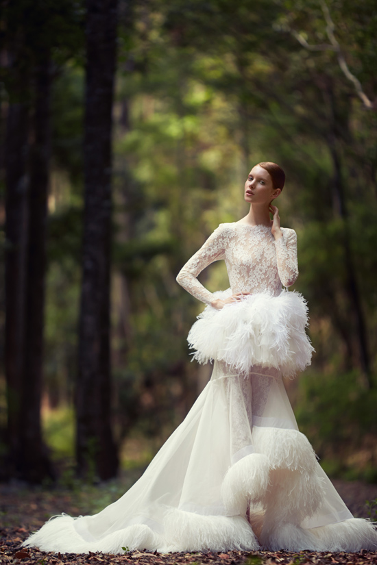 couture bridal gowns george wu015 George Wu 2014 Bridal Collection 'The Light of Eden