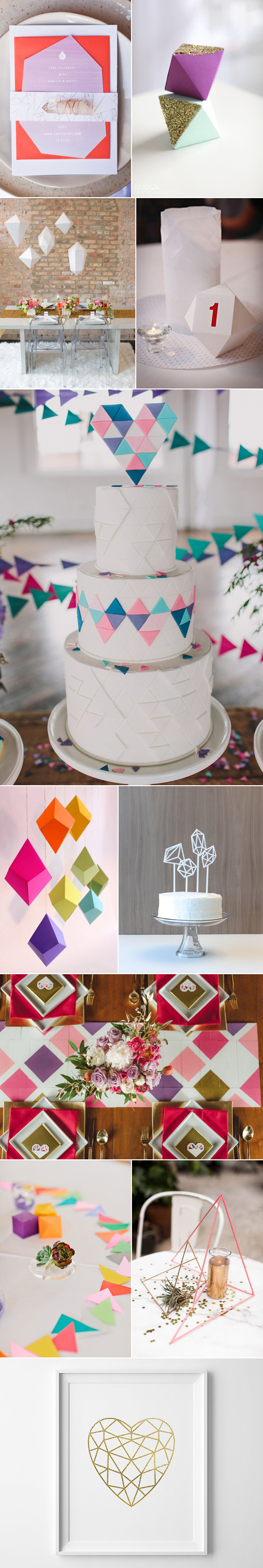 geometric wedding ideas002 Geometric Wedding Decor Ideas