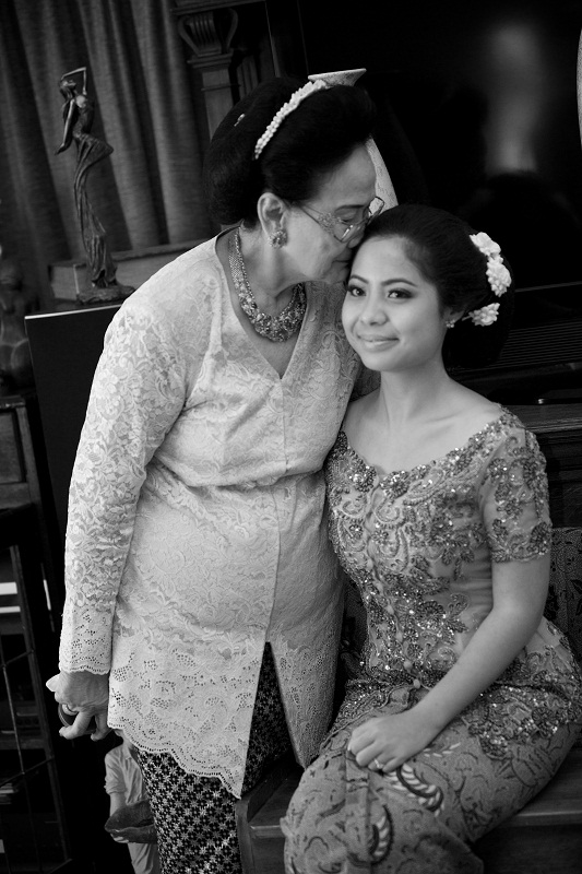 with elderly relative