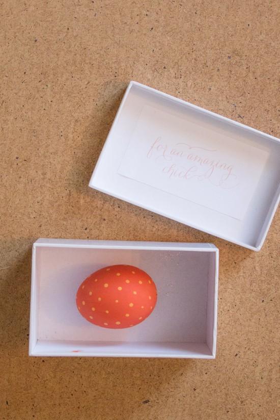Secret message in an egg