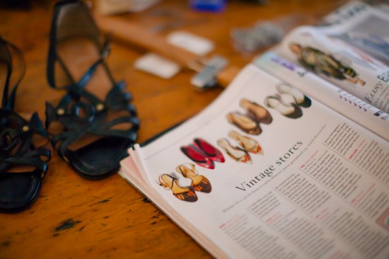 Fashion magazine featuring vintage stores such as Dolly Up Vintage Emporium on the counter