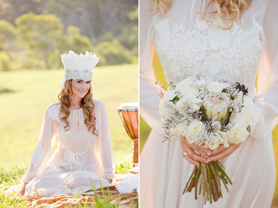 White Bohemian Wedding Ideas015