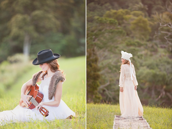 White Bohemian Wedding Ideas027