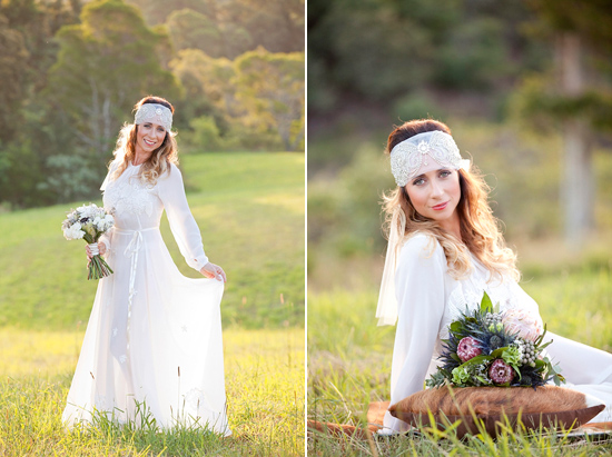 White Bohemian Wedding Ideas028