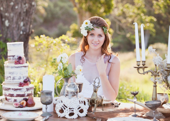 White Bohemian Wedding Ideas030