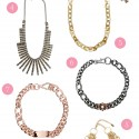 metallic wedding necklaces