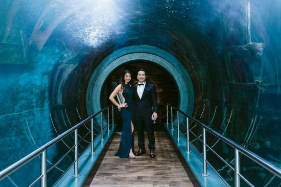 BrennanVanessa EngagementParty 24 550x366 An Enchanting Engagement At The Melbourne Aquarium