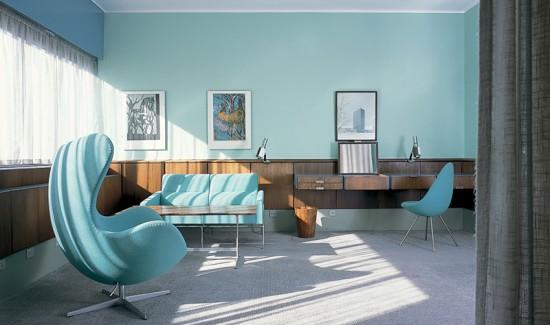 Room 606 at SAS Royal Hotel Copenhagen via Phaidon 550x325 Honeymoon In Copenhagen Denmark