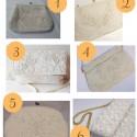 White Vintage Beaded Bags