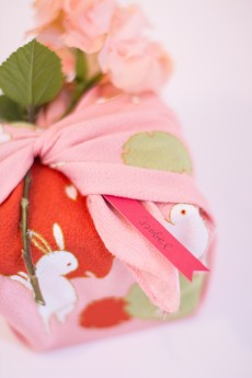Silk scarf gift wrapping tutorial
